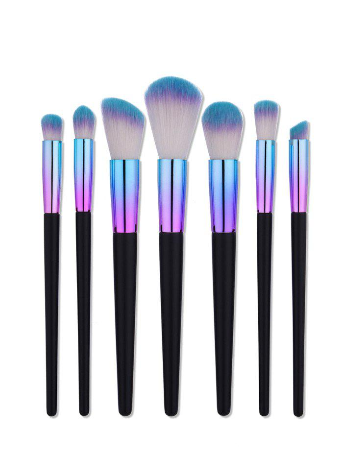 7Pcs Aluminum Tube Make Up Brushes Set - COLORMIX