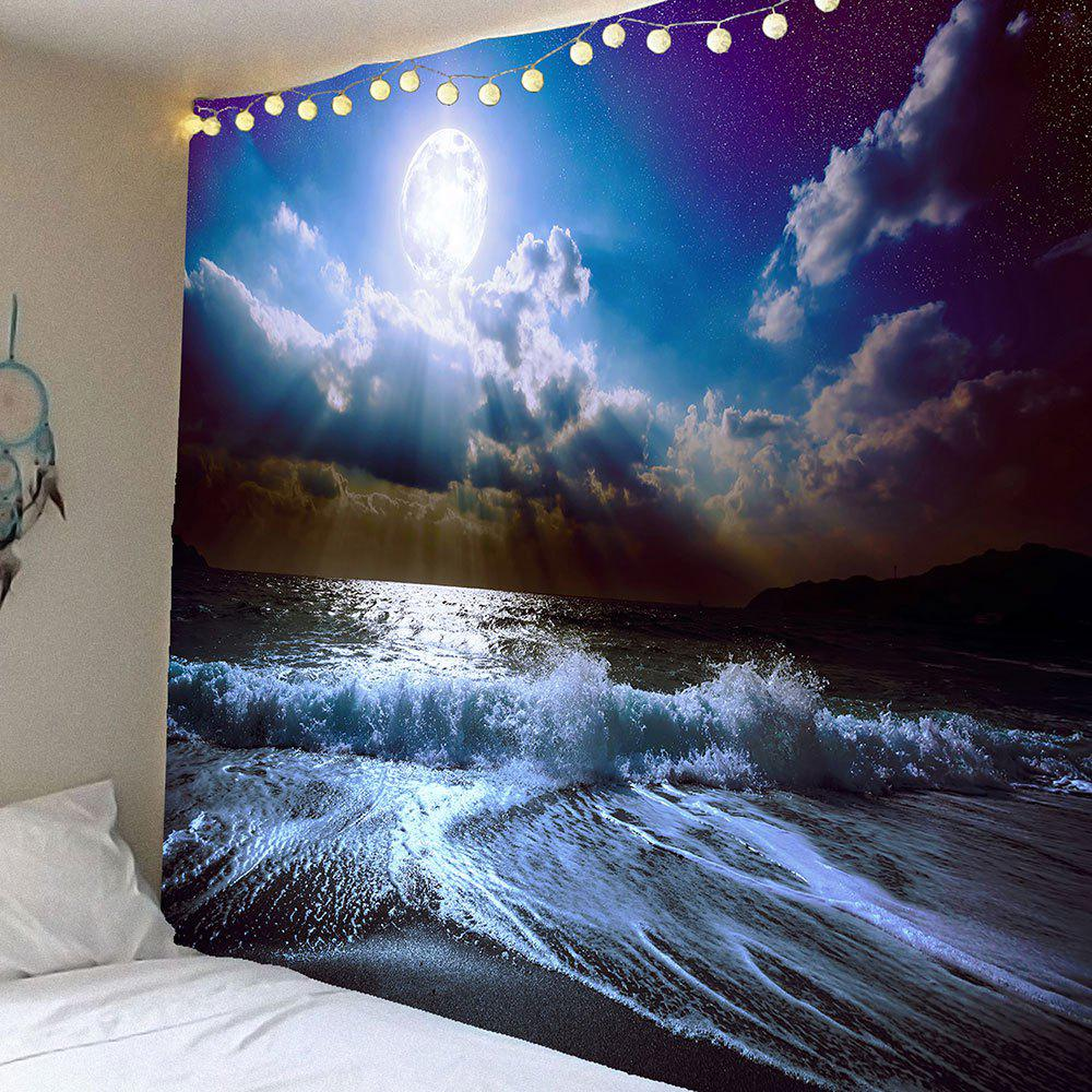 Waterproof Tidewater Cloud Pattern Wall Hanging Tapestry - BLUE W79 INCH * L71 INCH