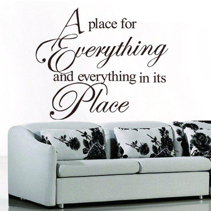 Everything Quote Wall Stickers For Bedroom - BLACK