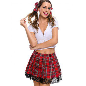 School Uniform Cosplay Costume - RED RED