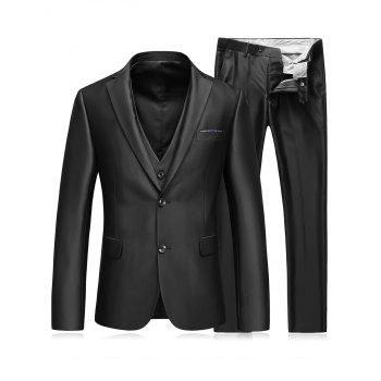 Slim Fit Single Breasted Balzer Three-Piece Suit