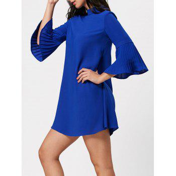 Tunic Shift Dress with Bell Bottom Sleeve
