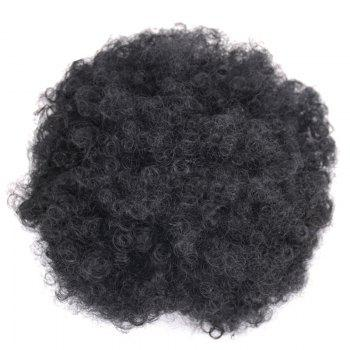Large Heat Resistant Synthetic Fluffy Afro Curly Bun Chignon - JET BLACK #01 JET BLACK