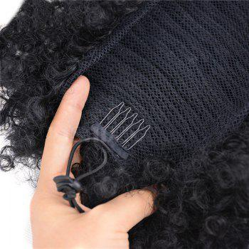 Large Heat Resistant Synthetic Fluffy Afro Curly Bun Chignon - JET BLACK