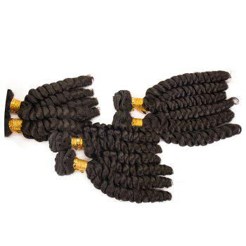6Pcs Long Spiral Twisted Braids Hair Wefts -  BLACK