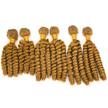 6Pcs Long Spiral Twisted Braids Hair Wefts - GOLDEN BLONDE GOLDEN BLONDE