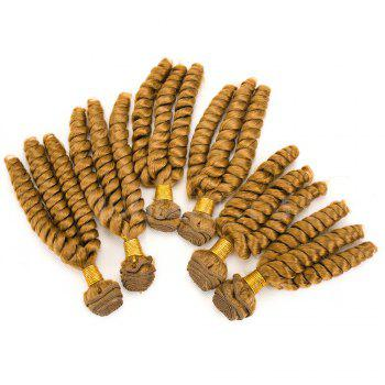 6Pcs Long Spiral Twisted Braids Hair Wefts - GOLDEN BLONDE