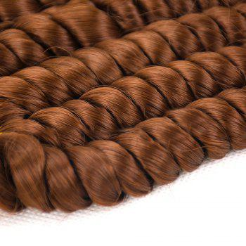 6Pcs Long Spiral Twisted Braids Hair Wefts -
