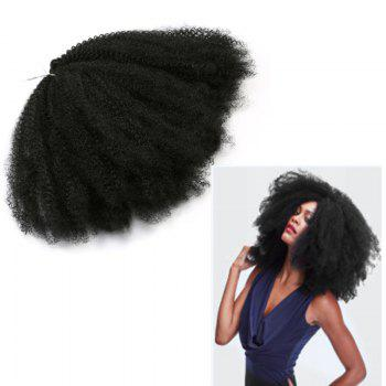 Long Fluffy Afro Kinky Curly Synthetic Hair Weft - BLACK BLACK