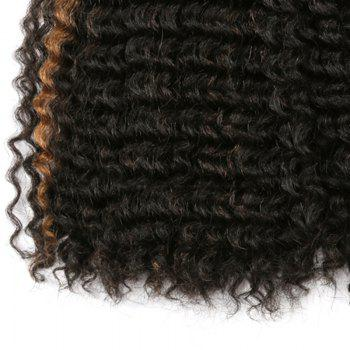 Short Deep Wave Colormix Synthetic Hair Wefts -  BLACK