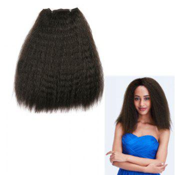 Long Fluffy Kinky Curly Heat Resistant Synthetic Hair Wefts - BLACK BLACK