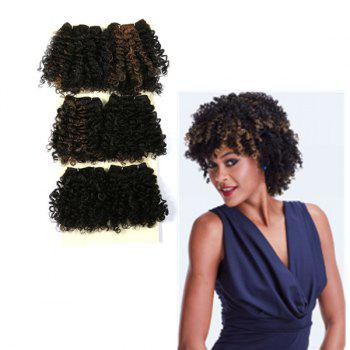 Short Shaggy Heat Resistant Synthetic Curly Hair Weaves