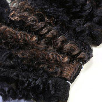 Short Shaggy Heat Resistant Synthetic Curly Hair Weaves - BLACK