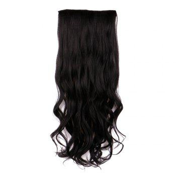 Long Clip In Wavy Hair Piece -  BLACK