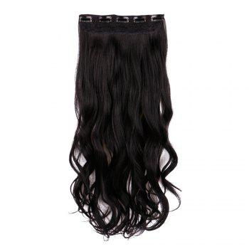 Long Clip In Wavy Hair Piece - BLACK BLACK