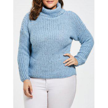 Plus Size Turtleneck Chunky Knit Sweater