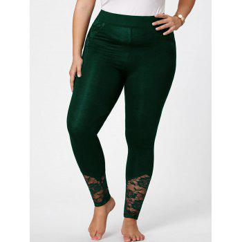 Plus Size Lace Insert Skinny Pants
