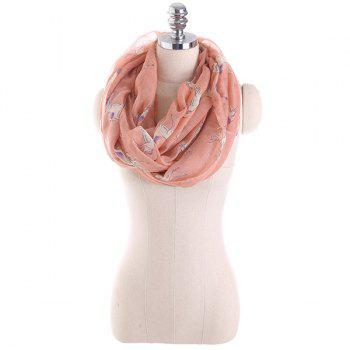 Horse Printed Infinity Wrap Scarf - LIGHT PINK