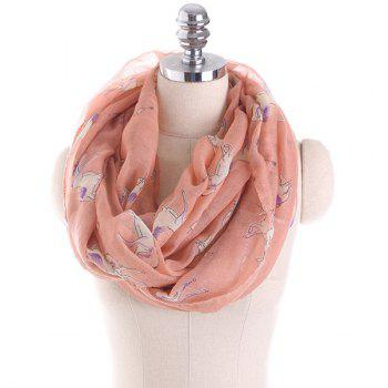 Horse Printed Infinity Wrap Scarf