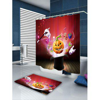 Waterproof Halloween Gift Pattern Shower Curtain - COLORFUL W59 INCH * L71 INCH