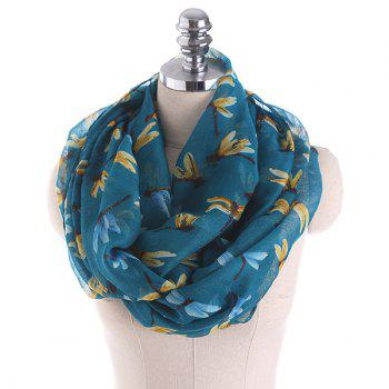 Multicolor Dragonfly Pattern Infinity Scarf