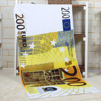 200 Euro Banknote Pattern Bath Towel - YELLOW YELLOW