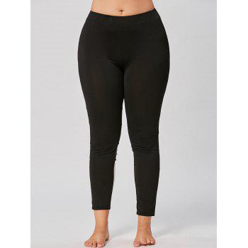 Plus Size Color Block Mesh Insert Workout Leggings - 3XL 3XL