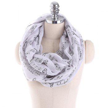 Music Note Stave Embellished Infinity Scarf