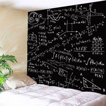 Mathematical Notes Pattern Waterproof Wall Art Tapestry - BLACK W59 INCH * L51 INCH
