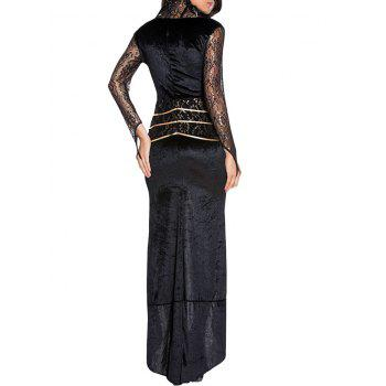 Queen Cosplay Maxi Dress - BLACK ONE SIZE