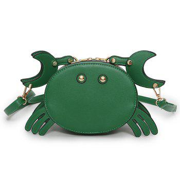 PU Leather Crab Crossbody Bag