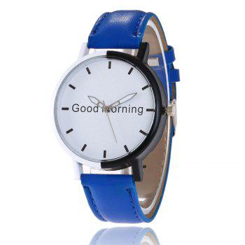 Good Morning Faux Leather Watch
