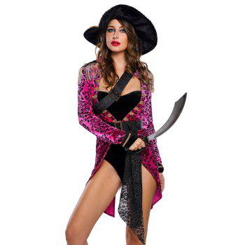 Velvet Pirate Cosplay Costume Outfits - PURPLISH RED S