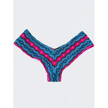 High Cut Swim Panties - BLUE AND PINK BLUE/PINK