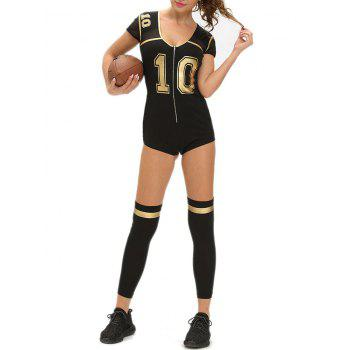 Football Halloween Costume Outfit - BLACK BLACK