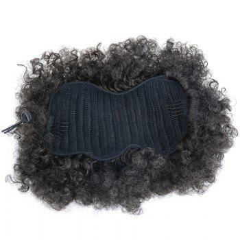 Large Heat Resistant Synthetic Fluffy Afro Curly Bun Chignon -  BLACK