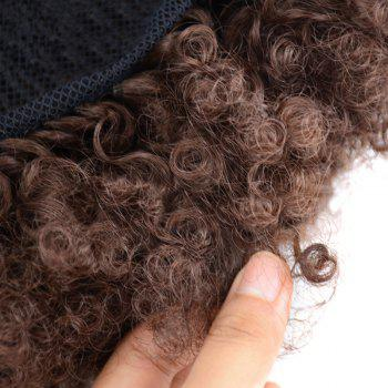 Large Heat Resistant Synthetic Fluffy Afro Curly Bun Chignon -  BROWN