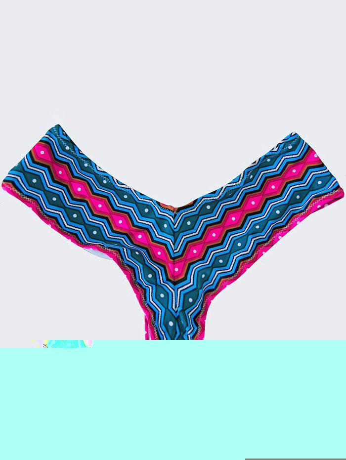 High Cut Swim Panties - BLUE/PINK L