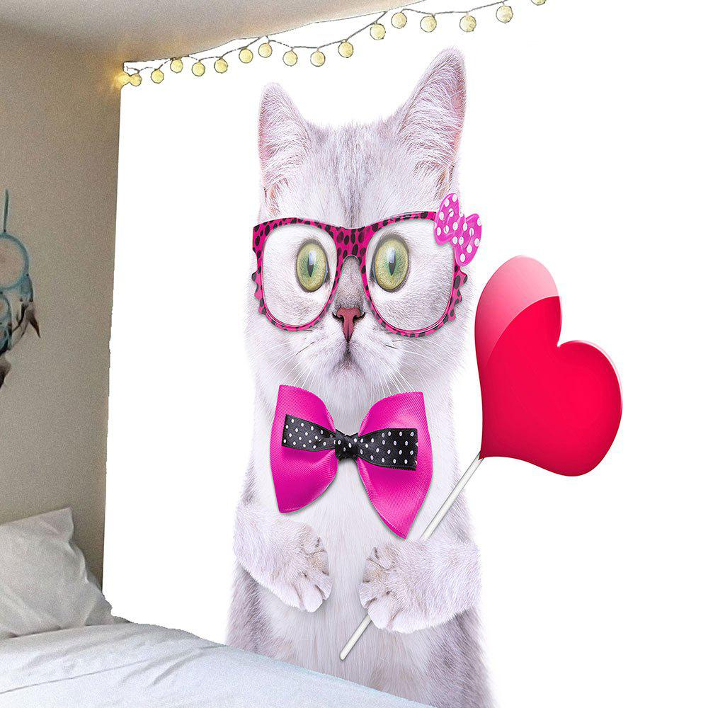 Cute Cat Pattern Waterproof Wall Art Tapestry - COLORFUL W79 INCH * L71 INCH