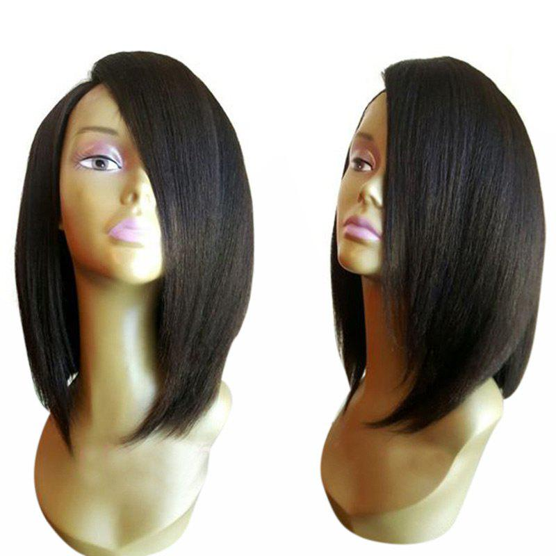 Medium Side Part Shoulder Length Straight Bob Synthetic Wig medium side part bob straight lace front synthetic wig