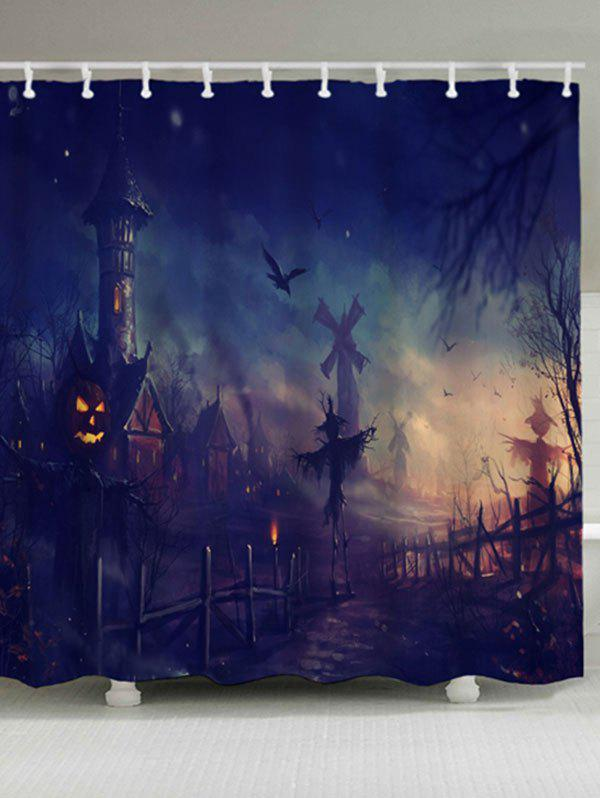 цены Waterproof Fabric Halloween Graphic Bath Curtain