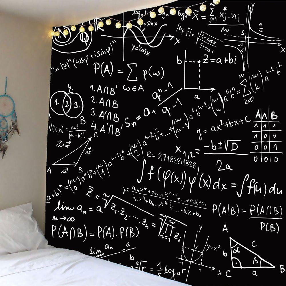 Mathematical Notes Pattern Waterproof Wall Art Tapestry