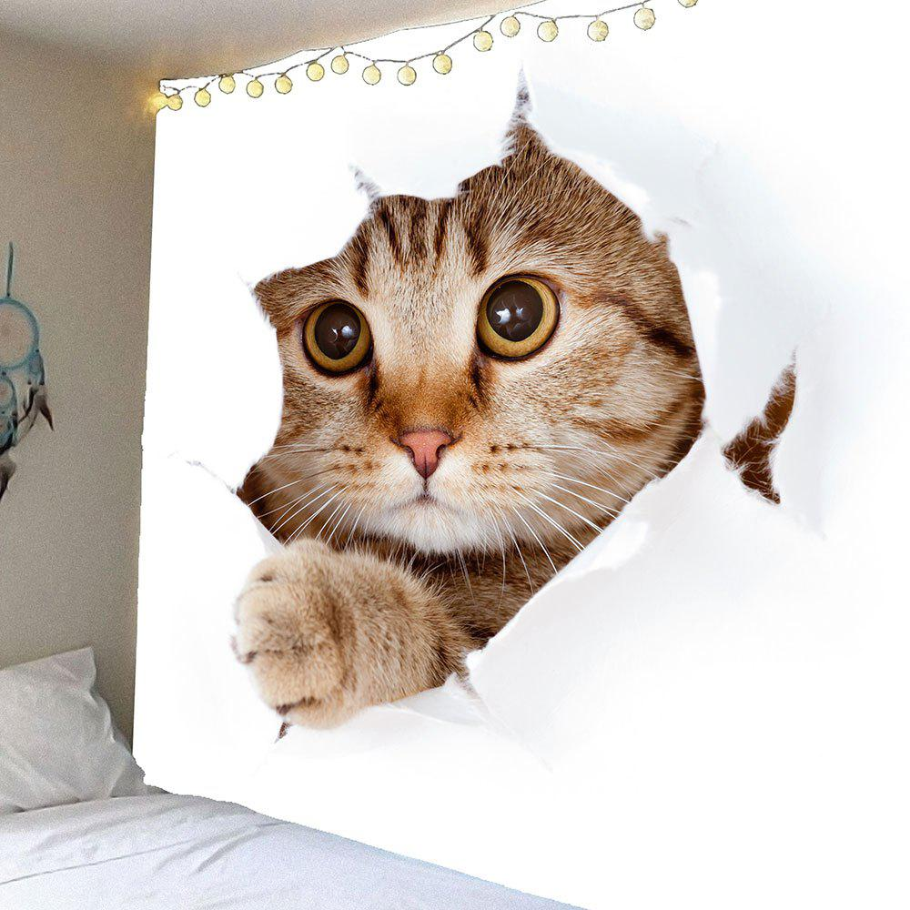 3D Cat Printed Waterproof Wall Art Tapestry in touch 2 аудиокурс на 3 cd