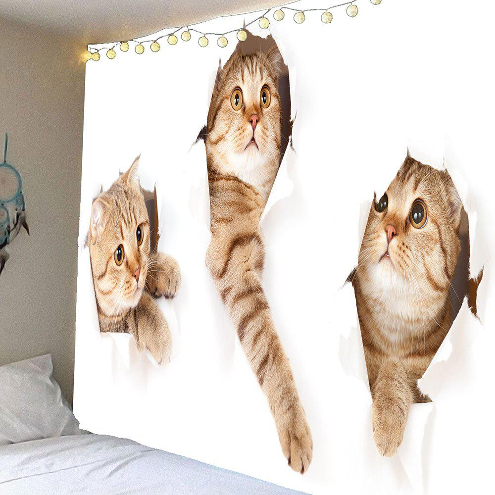 Broken Wall and Cat Pattern Waterproof Wall Art Tapestry 5piece 100% new up6215ak qfn 48 chipset