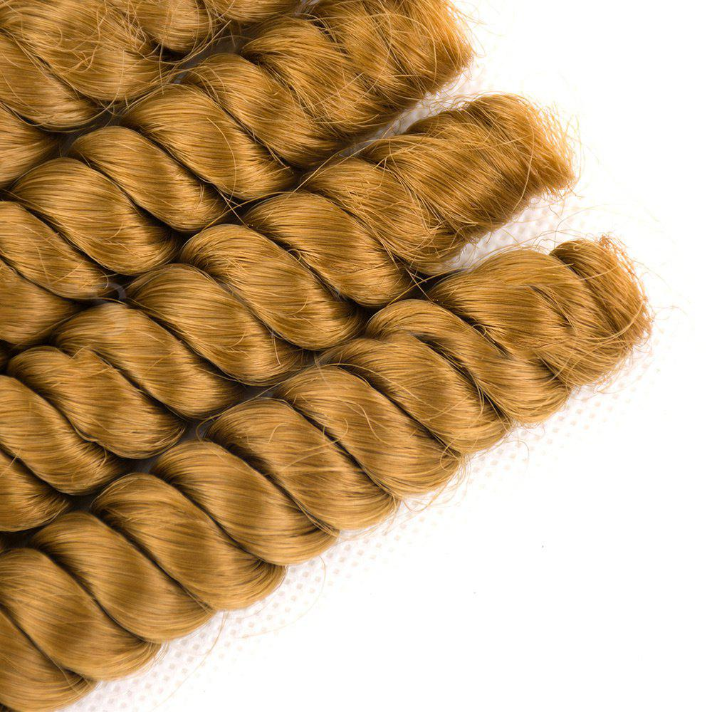6Pcs Long Spiral Twisted Braids Hair Wefts - Blonde d'Or