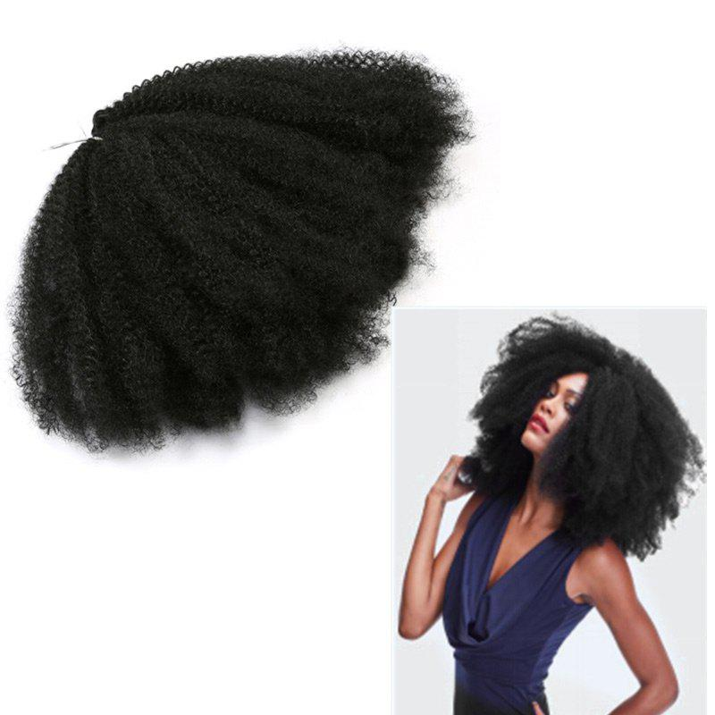 Long Fluffy Afro Kinky Curly Synthetic Hair Weft 3pcs afro kinky curly mali bob twist braids short synthetic hair weaves