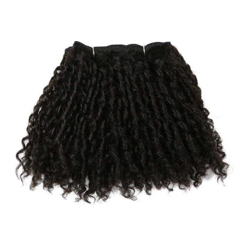 Short Classy Lock Curly Synthetic Hair Wefts - BLACK