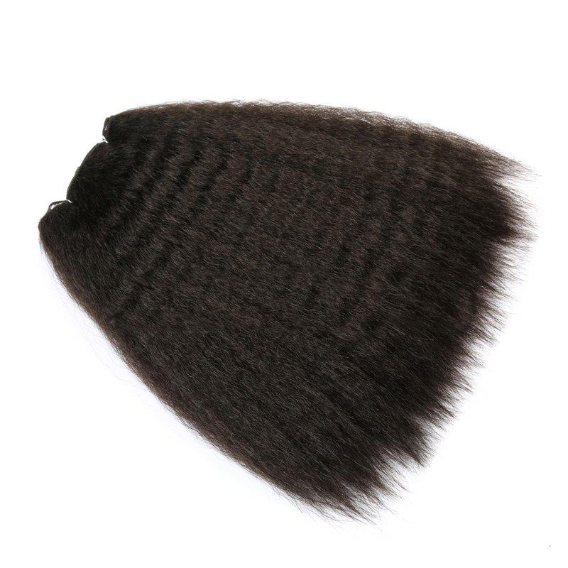 Long Fluffy Kinky Curly Heat Resistant Synthetic Hair Wefts - BLACK