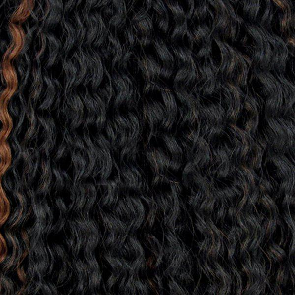 Long Fluffy Curly Heat Resistant Fiber Hair Wefts - NATURAL BLACK