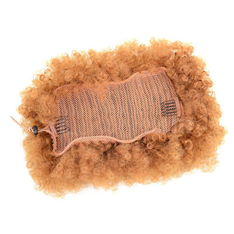 Large Heat Resistant Synthetic Fluffy Afro Curly Bun Chignon - YELLOW